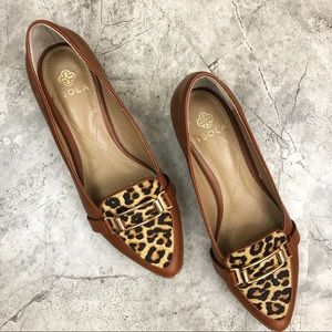 ISOLA {leopard} loafers